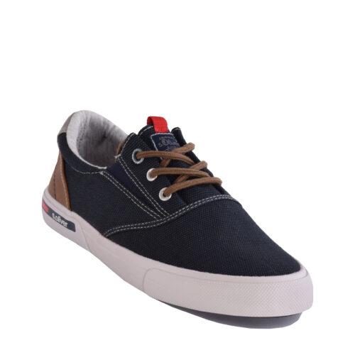 S.Oliver Ανδρικά Sneakers 13624-21 έτοιμα να αναδείξουν τα καθημερινά ντυσίματα σας σε casual ύφος. Χρώμα μπλε.