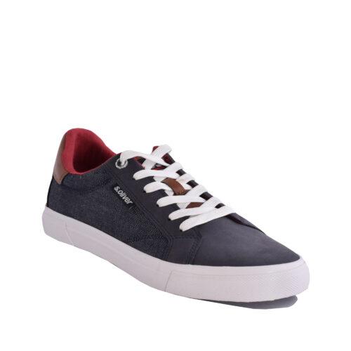 S.Oliver Ανδρικά Sneakers 13641 έτοιμα να αναδείξουν τα καθημερινά ντυσίματα σας σε casual ύφος. Χρώμα μπλε.
